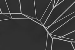 Abstract 3d voronoi lattice on black background Stock Images