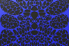 Abstract 3d voronoi organic structure on black background Royalty Free Stock Photography