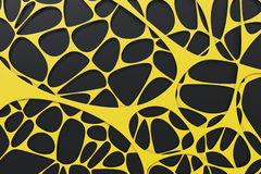 Abstract 3d voronoi organic structure on black background Stock Photo