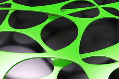 Abstract 3d voronoi organic structure on black background Stock Photography