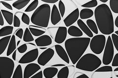 Abstract 3d voronoi organic structure on black background Royalty Free Stock Photo