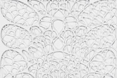 Abstract 3d voronoi organic structure on white background Stock Photo