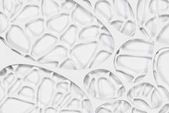 Abstract 3d voronoi organic structure on white background Stock Image