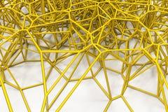 Abstract 3d voronoirooster op witte achtergrond Royalty-vrije Stock Afbeeldingen