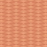 Abstract 3D wave pattern copper color background. Tracery lines. Vector illustration stock illustration