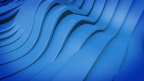 Abstract 3D Wavy band surface. Royalty Free Stock Images