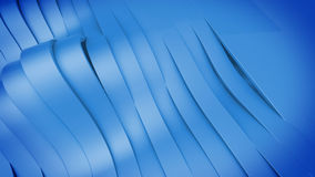 Abstract 3D Wavy band surface. Royalty Free Stock Photos
