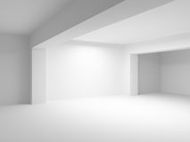 Abstract 3d white architecture background. Empty room interior Stock Photo