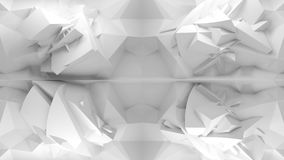 Abstract 3d white background, chaotic polygonal structure Stock Photography