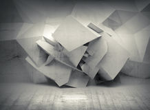 Abstract 3d white background with chaotic  surface Stock Image