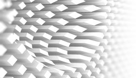 Abstract 3d white background pattern Royalty Free Stock Photography