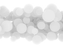 Abstract 3d white circles Royalty Free Stock Images