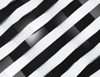Abstract 3d white geometric background Stock Photos