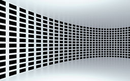 Abstract 3d white geometrical background. White texture with shadow. 3D render. Ing Stock Photos