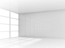 Abstract 3d white interior, empty room with window Stock Photo