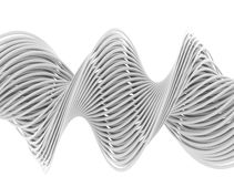 Abstract 3d white lines Royalty Free Stock Photography