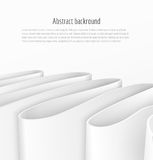 Abstract 3d white paper ribbon background Stock Photography