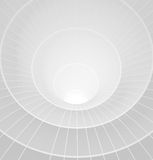Abstract 3d white spiral tunnel. Vector illustration Royalty Free Stock Images