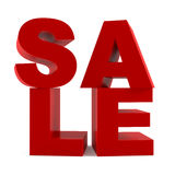 Abstract 3d word Sale. At the white background Stock Image