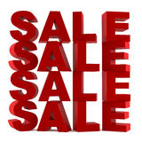 Abstract 3d words Sale isolated. At the white background Stock Photography