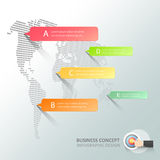 Abstract 3d world map infographic 5 options. Business concept infographic template can be used for workflow layout, diagram, number options, timeline or royalty free illustration