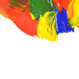 Abstract dabs colour paints Stock Photography