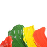 Abstract dabs colour paints Stock Photo