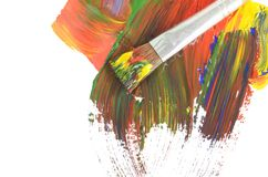 Abstract dabs colour paints Royalty Free Stock Photography