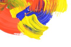 Abstract dabs colour paints Stock Photos