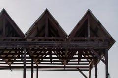 Abstract dak op de dokken Stock Foto