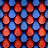 Abstract dalingenpatroon - naadloos patroon - rood-blauwe kleur - streef na royalty-vrije stock foto