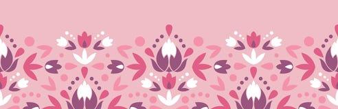 Abstract damask flowers horizontal seamless Royalty Free Stock Photos