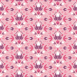 Abstract damask flowers seamless pattern Stock Photos