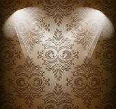 Abstract damask pattern in brown color Stock Images