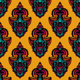 Abstract damask seamless  design Royalty Free Stock Images