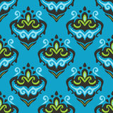 Abstract damask seamless floral design Royalty Free Stock Image