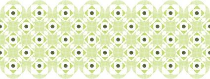 Abstract damask swirls horizontal seamless pattern Royalty Free Stock Photo