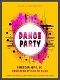 Abstract Dance Party flyer, template or banner. Royalty Free Stock Photos