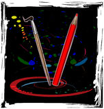 Abstract dance of pencil Stock Photography