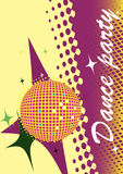 Abstract dance poster.Party invitation.Music club Stock Photography