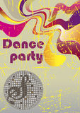 Abstract dance poster Stock Image