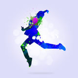 Abstract dancer Stock Image