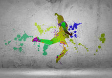 Abstract dancer Stock Photography