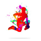 Abstract dancer Royalty Free Stock Image