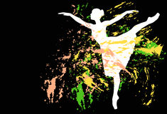 Abstract dancer silhouette Stock Images