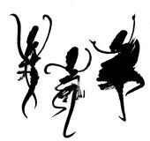 Abstract dancers - painting Stock Image