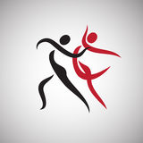 Abstract Dancing couple isolated Royalty Free Stock Images