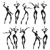 Abstract dancing figures. Vector illustration Royalty Free Stock Photography