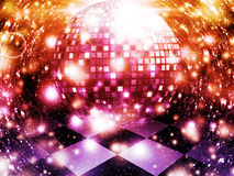 Abstract dancing floor. Illustration of abstract dancing floor with disco ball Royalty Free Stock Images