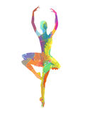 Abstract dancing girl. Abstract vector silhouette dancing girl Royalty Free Stock Image